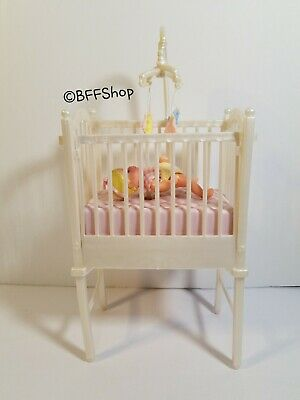 Mattel Krissy Baby Crib Barbie Furniture Accessory Dollhouse Play Pretend