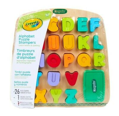 NEW Crayola Alphabet Puzzle Stampers from Mr Toys