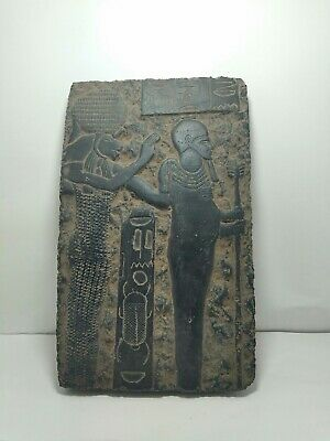 RARE ANTIQUE ANCIENT EGYPTIAN Stela God Sekhmet & Ptah God War Army 1810-1730 Bc