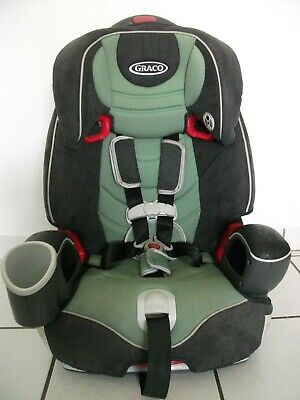 Graco Nautilus 3-In-1 Adaptable Harness Booster Car Seat Unisex Green & Gray