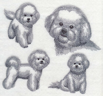 Bichon Frise Sketch Personalized Sweatshirt  Embroidered ALL SIZES