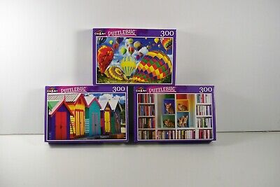 Puzzles Lot of 4 Includes Four 300 Piece Puzzles Family Fun Sealed FREE SHIP