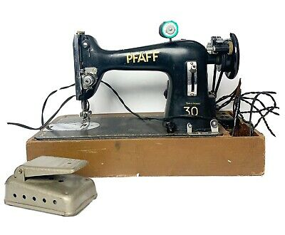 Vintage Pfaff 30 Electric Sewing Machine With Foot Pedal Untested Sold As Is