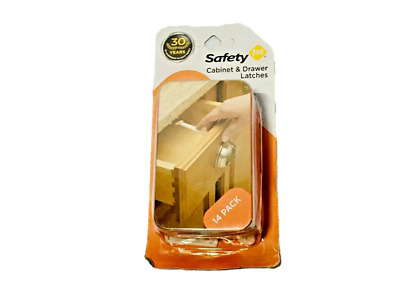 Safety 1st Cabinet Drawer Latches Wide Easy-Grip Surface 14 Pack Toddler Proof