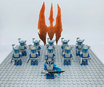 Star Wars The Mandalorian with Baby Yoda 4Pcs Minifigures Custom Set For Lego.