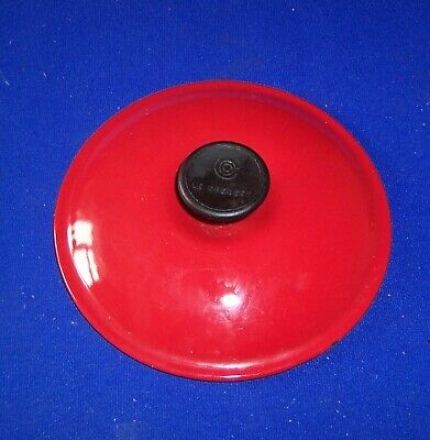 Vintage cast iron Le Creuset saucepan lid only 18 red made in France