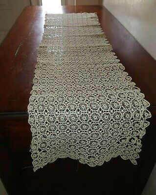 Antique Lace Table Runner and Doilies