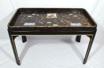 Antique Japanese 19thC Tea Ceremony Table and Stand