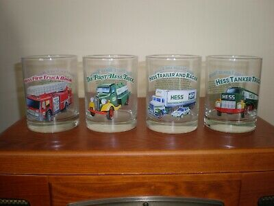 1996 Hess - Toy Truck Glasses - Collector's Series - Set of 4 - Pre-owned