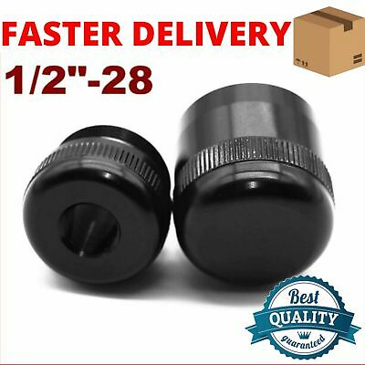 """D Cell 7.25in Tube End Cap Hiking stick Extention Maglite threaded 2 cap 1//2/""""-28"""