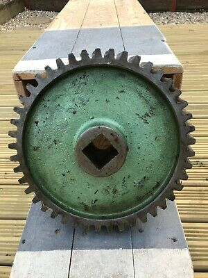 Vintage Antique Industrial Cast Iron Steel Cog Gear Wheel old factory machinery
