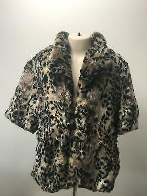 Girls River Island Animal Print Faux Fur Padded Coat Jacket Kids Age 12 Years