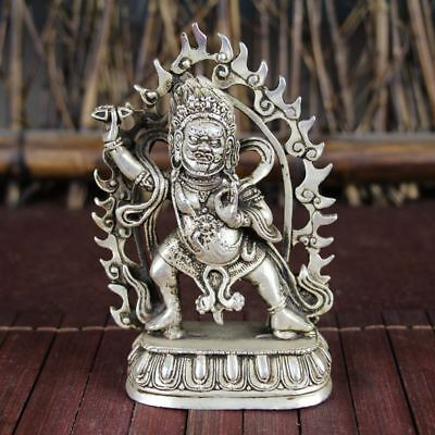 China old Feng Shui ornaments white Copper Silver plating Backlight Brown GBA