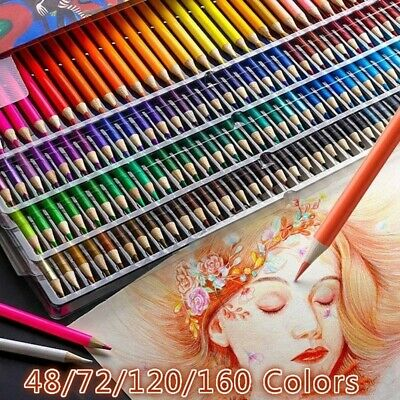 48/72/120/160 colors Colored Pencils Watercolor Pencils Lead Water-soluble Color