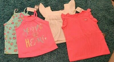 Girls Age 3-4 T-Shirt Bundle Next, Primark ..*NEW WITH TAGS*