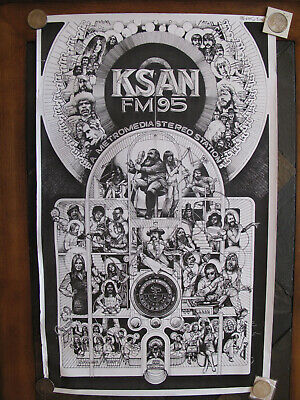 Vintage KSAN FM 95 Radio Station poster! Incredible *RARE in this condition!