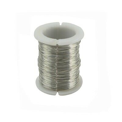 Bare 28 Gauge Dead Soft Silver Hobby Sew Wire Round Jewelry Wrap Craft Repair