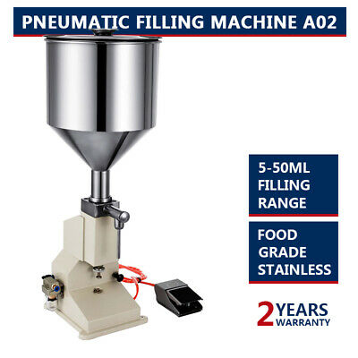 The New A02 5-50ml Liquid Bottle Water Filling Machine Pneumatic Filling Machine