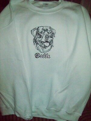 Rottweiler Dog Personalized Sweatshirt Embroidered ALL SIZES