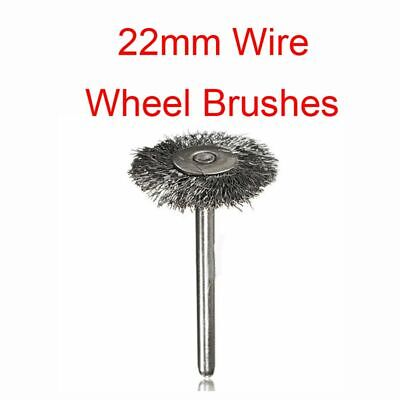 Rotary Tools Accessories 22mm Polishing Steel Wire Wheel Rust Cleaner Brush Cup
