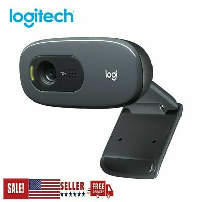 Logitech C270 HD 720P Webcam USB 2.0 Web Camera HD Microphone For PC Laptop US
