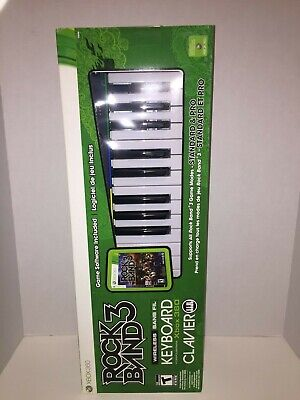 BRAND NEW | Rock Band 3 Game + Clavier Wireless Keyboard Bundle | Xbox 360