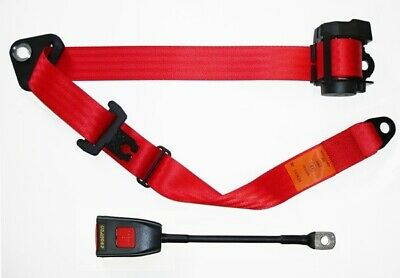 Seat Belt Auto Lap And Diagonal Red 500/30RED Securon Top Quality Replacement