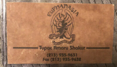 Tupac Shakur -2Pac Personal Business Card *ULTRA RARE*🔥Own A Piece Of History🔥