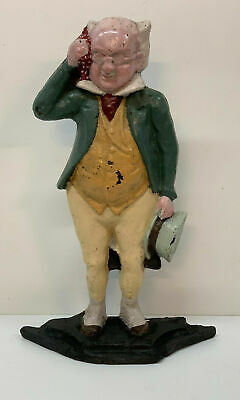 Charles Dickens Character Mr Pickwick Cast Iron Painted Doorstop antique