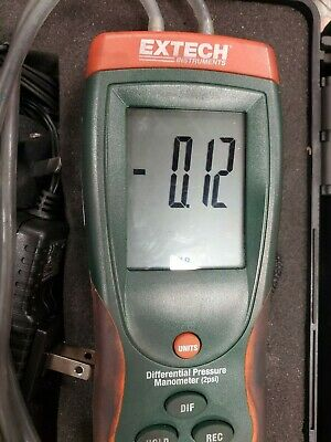 Extech HD700 Heavy-Duty Differential Pressure Manometer, -2 psi
