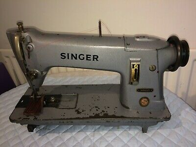 Singer 196K301 Industrial Wheel Feed Lockstitch Vintage Sewing Machine