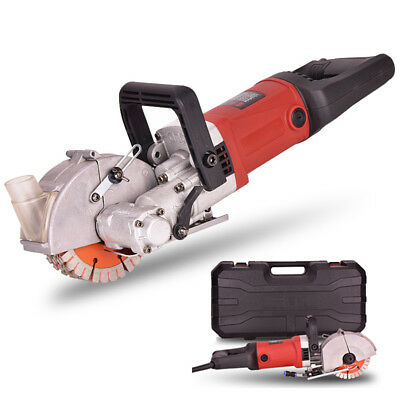 220V 4KW Electric Wall Chaser Groove Steel Concrete Cutting Slotting Machine Set