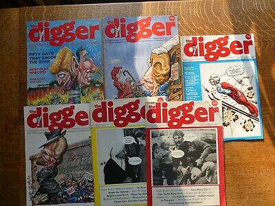 the Digger 6 Issues 1987-88 Satire : Margaret Thatcher, Gorbachev's Ramblings...