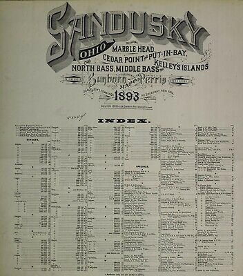Sndusky, Ohio  Sanborn Maps made in 1893 with 46 maps in full color