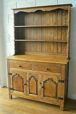 Antique Oak Dresser Country Farmhouse Drawers & Cupboards