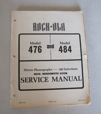 Rock-Ola Jukebox Model 476 and 484 Complete Service Manual