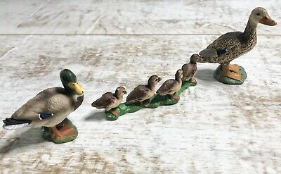 RETIRED Schleich Mallard Duck Family Male Female Ducklings 13653 13654 13655