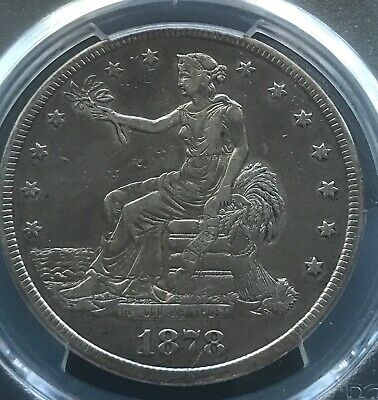 1878-cc , Trade  Dollar, pcgs VF details , scarce date