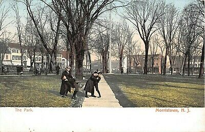 Aerial View of Anderson Avenue Stores etc Cliffside Park New Jersey Postcard