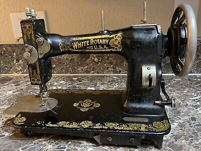 White Rotary Treadle Sewing Machine 1913 Antique Tested Working Pre-owned