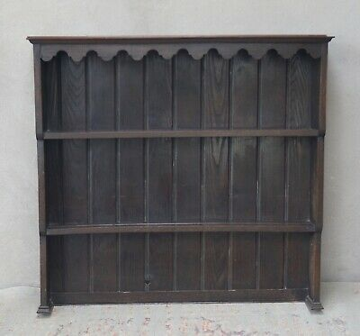 Antique Oak Dresser Top Plate Rack Rustic Country Farmhouse - Delivery Available