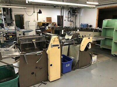 Rosback 203R 6-Station Collator, Stitcher with 3 Knife Trimmer