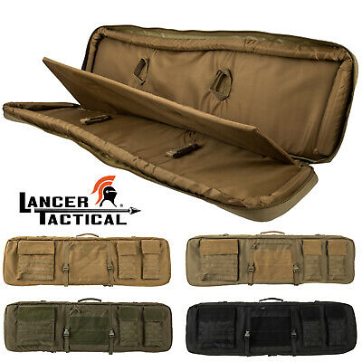Lancer Tactical Range 1000D Nylon 3-Way Carry Double Rifle Storage Carrying Case
