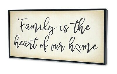 Framed Family Typography Wall Art Canvas Print Family Home Paint Pictures Decor