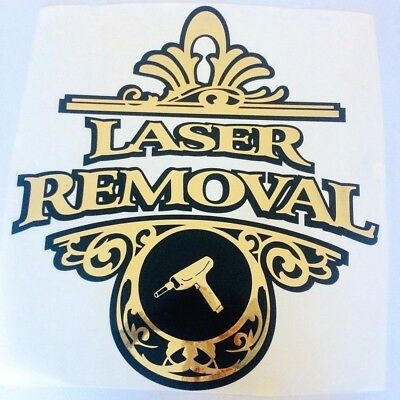 Laser Removal Wall Sticker Tattoo Studio Window Shop Decal Retail Advertising