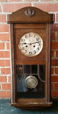 Old Regulator Wall Clock Pendulum Clock Watch Divina Gong D.R.G.M. Facettenglas