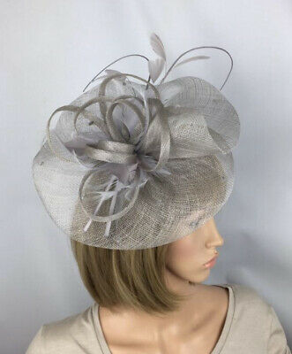 Silver Grey Fascinator Mother Of The Bride Occasion Wedding Races Hatinator