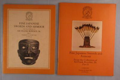 Lot Christie's Japanese Swords and Armour Frank Bowden Part I II Auction Catalog