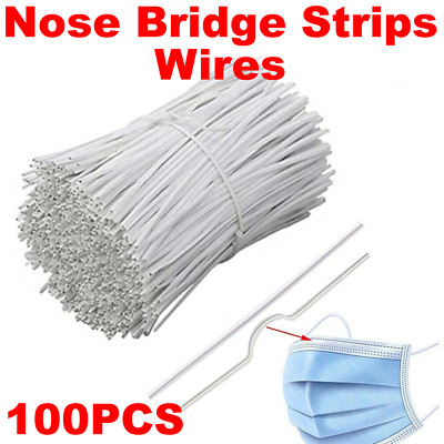 100PCS Nose Bridge Strips Wires Bracket Protection for Sewing Ma-sk DIY Crafts