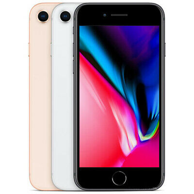"""Apple iPhone 8 Factory Unlocked 4.7"""" Smartphone 64GB/256GB Grey Silver Gold Red"""